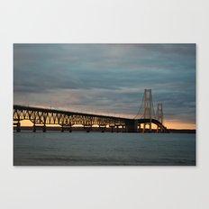 Sunset at the Mackinac Bridge Canvas Print