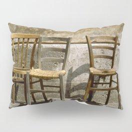 Three chairs and newspaper Pillow Sham