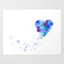Bubbling hearth Art Print