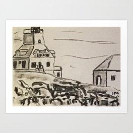 Study of Egg Rock Lighthouse Art Print