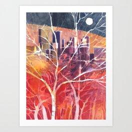 Towers between the trees Art Print