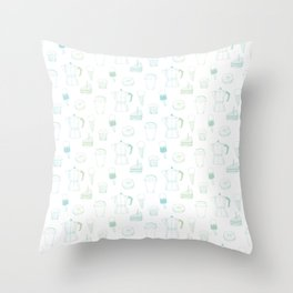 Coffee and Dessert Throw Pillow