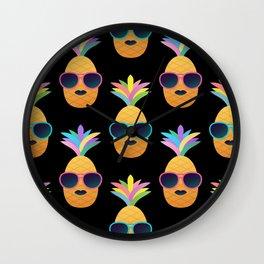 Punk Pinapples Wall Clock