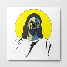 Zombie Jesus Metal Print