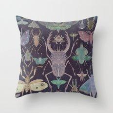Entomologist's Wish (The Neon Version) Throw Pillow