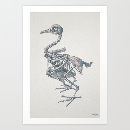 Noble death of chicken Art Print