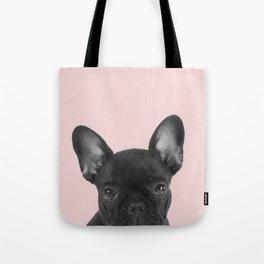 Blush pink Frenchie pop Tote Bag