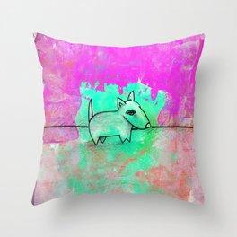 Dog No.1f by Kathy Morton Stanion Throw Pillow