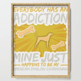 American English Coonhound Funny Dog Addiction Serving Tray