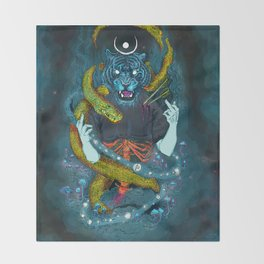 no miracles (full colour) Throw Blanket