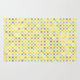 Random Lilac Dots on Yellow Pattern Rug