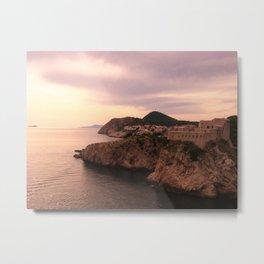 Dubrovnik at Sunset Metal Print