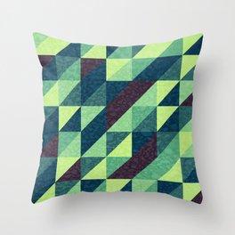 Retro-Geo Pattern Throw Pillow