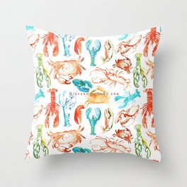 Spring Yeah! - Lobster&Crabs Throw Pillow