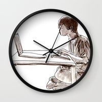 gamer Wall Clocks featuring Gamer by Jonas Ericson