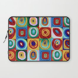 Colorful circles tile Laptop Sleeve
