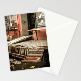 Old books on the street Stationery Cards