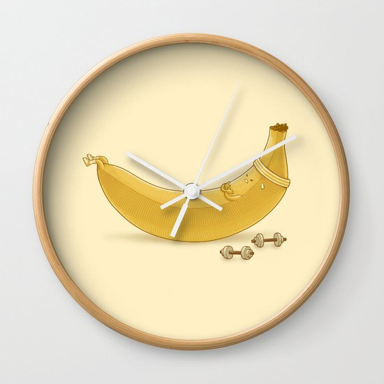 Crunches Wall Clock