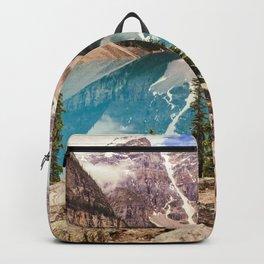 Moraine Lake III Banff Summer Mountain Reflection Backpack