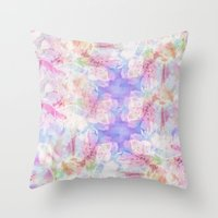 transparent Throw Pillows featuring TRANSPARENT VEILS by INA FineArt