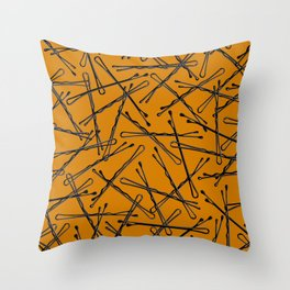 Bobby Pins Scattered Throw Pillow