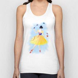 Ballerina Snow Unisex Tank Top
