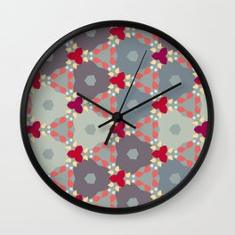 Kaleidoscope Flowers Autumn Wall Clock