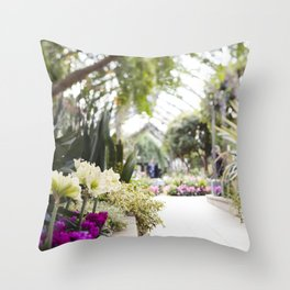 Conservatory Pathway Throw Pillow
