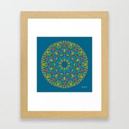 Bienvenida a Marte (Azul) Framed Art Print
