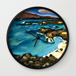 Secret Beach Wall Clock