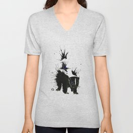 Skunk - Ink Blot Unisex V-Neck