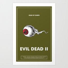 Evil Dead 2 - Green Art Print