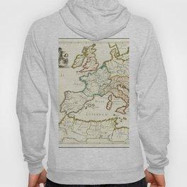 Vintage Map Print - 1638 map - Patriarchatus Romanus Hoody