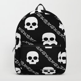 Skulls & Flowers - Black V2 Backpack