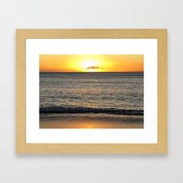 Sunset On the Pacific Framed Art Print
