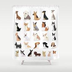 Dog Overload - Cute Dog Series Shower Curtain