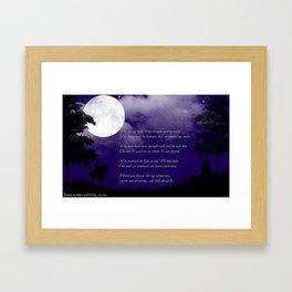 My Light Framed Art Print
