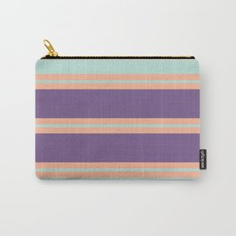 Minimal Abstract Apricot Purple SeaGreen 15 Carry-All Pouch