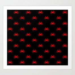 red crab pattern Art Print