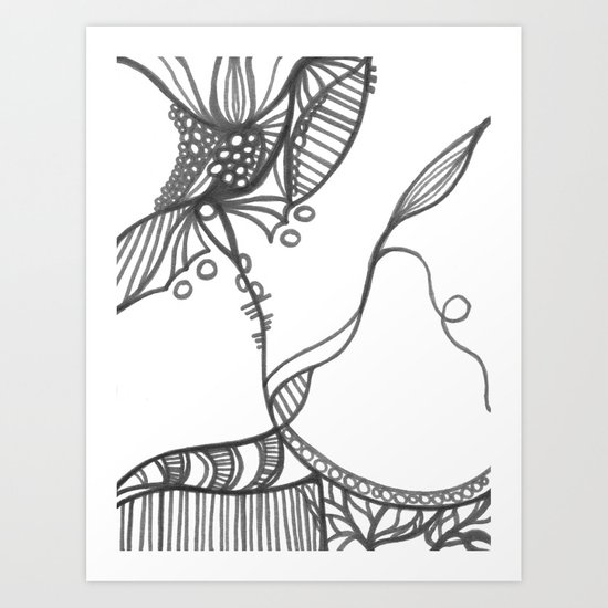 A Bit of an Entanglement My Dear Art Print