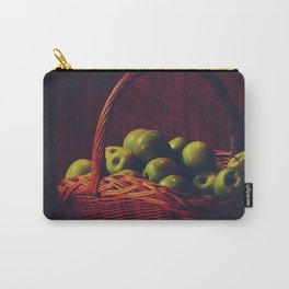 Basket of green apples in Oxford University Carry-All Pouch