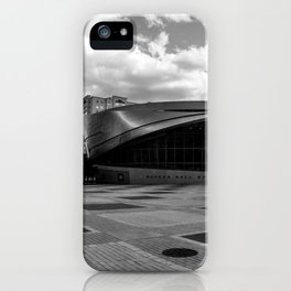 Nascar Hall of Fame Charlotte Black and White iPhone Case