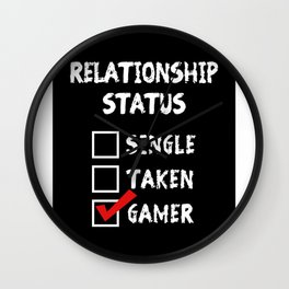 Relationship Status Gamer Wall Clock