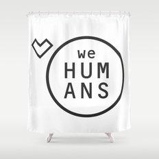 Welovehumanslogo Shower Curtain
