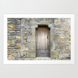 A door inside the City of Carcassonne Art Print
