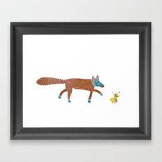 fox and the duck Framed Art Print