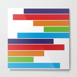 Colored lines #society6 #decor #buyart #artprint Metal Print