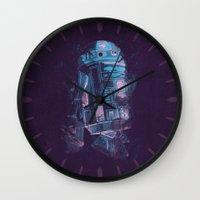 r2d2 Wall Clocks featuring R2D2 by Sitchko Igor