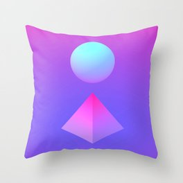 Gradient Shapes Throw Pillow