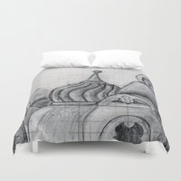 spires Duvet Covers featuring Spires by eckoepp